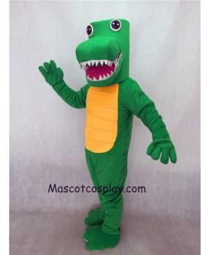 Hot Sale Adorable Realistic New Green Gator Mascot Costume