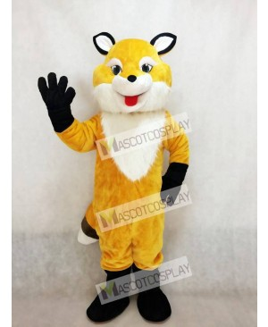 Hot Sale Adorable Realistic New Popular Professional Yellow Fancy Fox Mascot Costume with White Chest