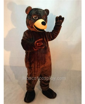 Fierce New Brown Friendly Grizzly Bear Mascot Costume