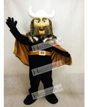 Thor the Giant Viking Mascot Costume with White Hemlet
