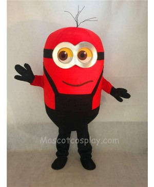 Cute Red Grinning Despicable Me Minions Mascot Costume D