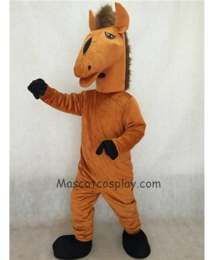 Hot Sale Adorable Realistic New Brown Mustang Mascot Costume