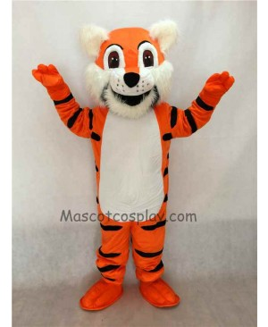 Cute Orange Toby Tiger Mascot Costume