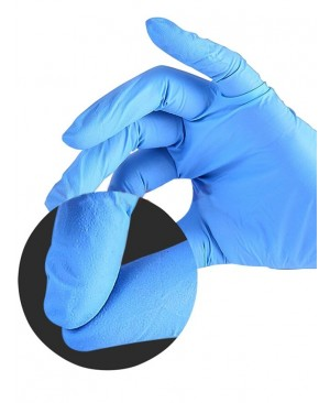 In Stock 100 PCS Protection Blue Latex Gloves Cleaning Gloves