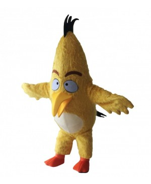 Movie Yellow Angry Birds Chuck Mascot Costume