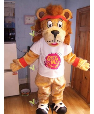 High Quality Adult Lenny The Lion Mascot Costume