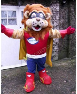 High Quality Adult Lion Superhero Mascot Costume