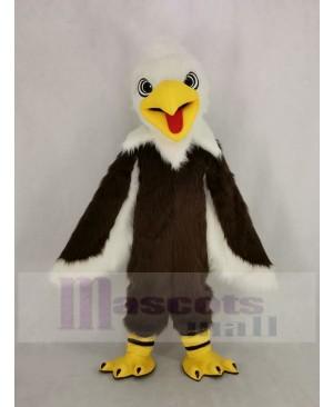 Long-haired White Head Eagle Mascot Costume