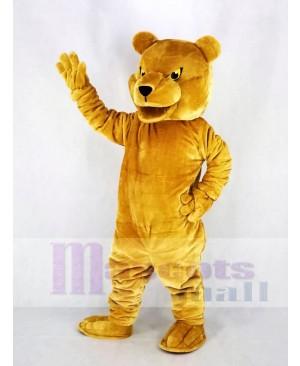 Long-haired Brown Bear Mascot Costume Animal