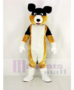 Black Brown and White Shepherd Dog Mascot Costume Animal