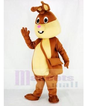 Brown Easter Bunny Rabbit Mascot Costume Animal
