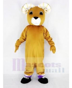 Brown Ram Mascot Costume Animal