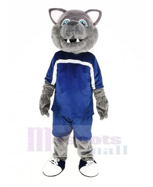 Gray Wolf in Sport Suit Mascot Costume Animal