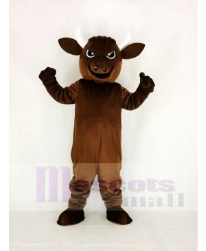Brown Sport Power Bull Mascot Costume Animal