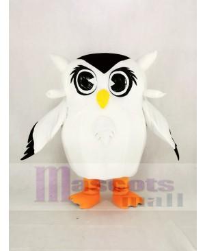Cute White Owl Mascot Costume Animal
