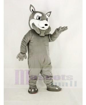 Power Gray Husky Dog Mascot Costume Animal