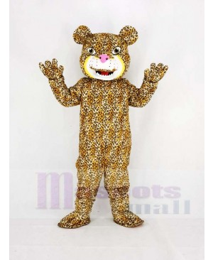 Strong Power Jaguar Mascot Costume Animal