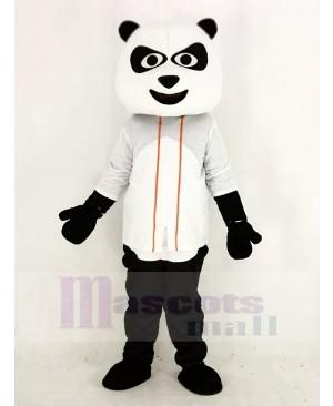 Baseball Panda with White T-shirt Mascot Costume Animal