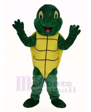 Plush Green Turtle Mascot Costume