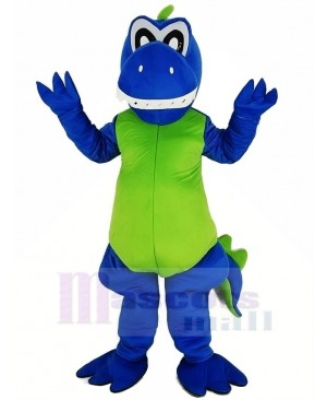Smiling Blue Dragon Mascot Costume Animal