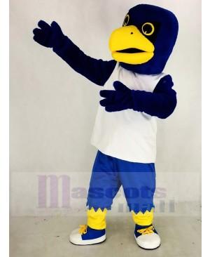 Blue Eagle in White Vest Mascot Costume