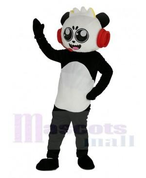 Combo Panda with Red Headset from Ryan's World Mascot Costume Cartoon