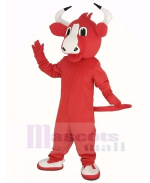 Happy Red Bull Mascot Costume
