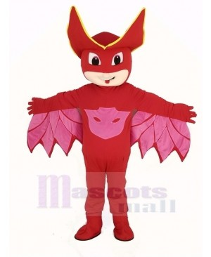 Red PJ Masks Girl Owlette Mascot Costume Cartoon