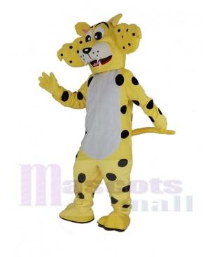 Funny Yellow Cheetah Mascot Costume