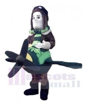 Aviator mascot costume