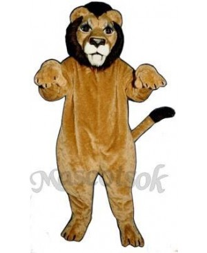 Cute Realistic Lion Mascot Costume