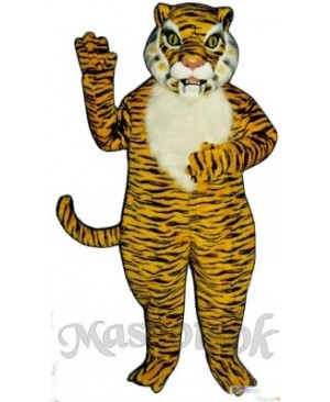 Cute Realistic Tiger Mascot Costume