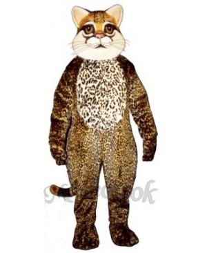 Cute Ocelot Cat Mascot Costume
