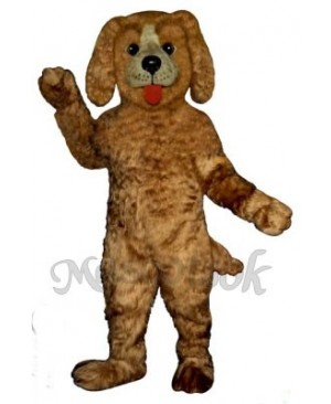 Cute Shaggy Dog Mascot Costume