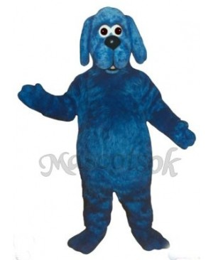 Cute Old Blue Dog Mascot Costume