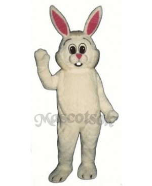 Easter Fat Bunny Rabbit Overalls Mascot Costume
