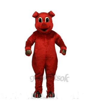 Cute Ruddy Red Pig Mascot Costume