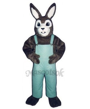 Easter J.R. Bunny Rabbit with Bib Overalls Mascot Costume
