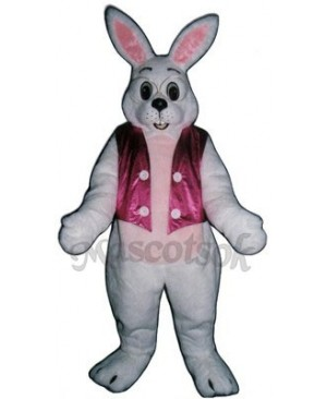 Cute Easter Bunny Rabbit with Vest Mascot Costume
