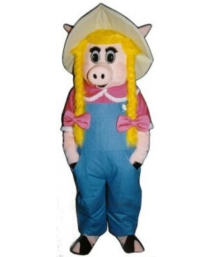 Cute Sally Sow Pig Piglet Hog Mascot Costume
