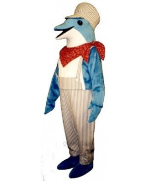 Cute Engineer Dolphin Mascot Costume