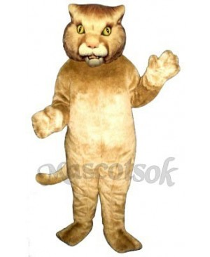 Cute Wildcat Mascot Costume
