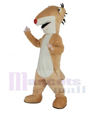 Ground Sloth with Red Nose Sid for Ice Age Mascot Costume Animal