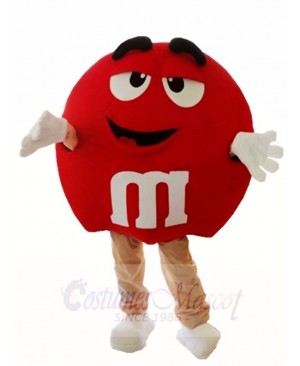 Red Milk Chocolate M&M's Candies Mascot Costumes Snack
