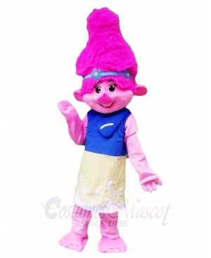 Pink Trolls Girl Poppy Little Girl Mascot Costumes Cartoon