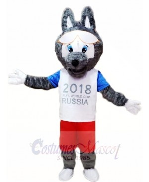 2018 Russia FIFA World Cup Football Zabivaka Wolf Mascot Costumes