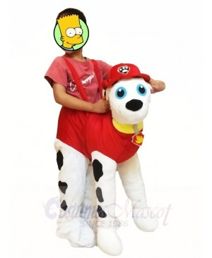 Piggyback Marshall Paw Patrol Carry Me Ride on Dalmatian Dog Mascot Costumes