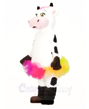 Cow with Colorful Skirt Mascot Costumes Animal