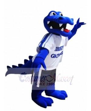 Royal Blue Alligator Mascot Costume Crocodile Mascot Costumes with White Shirt