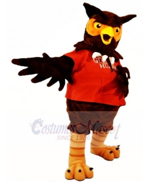 Red Shirt Brown Owl Mascot Costumes Animal